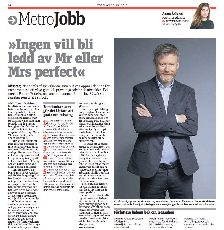 Metro Stockholm  - Metro Jobb