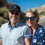 Marko Wramen och Anna Thorbjörnsson i öknen på Pipes Canyon road, nära Pioneertown, Kalifornien